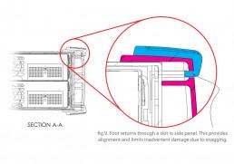Viavi mechanical design detail illustration