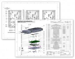 ThinkRF spectrum analyzer engineering drawings